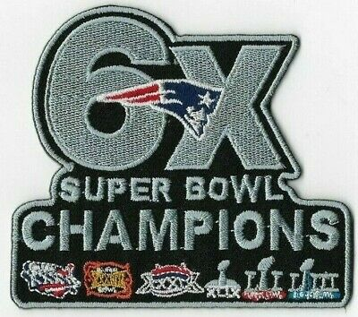 6X Super Bowl 53 LIII Champions 2019 New England Patriots Iron On Sew Patches