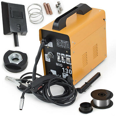 MIG-130 PVC Flux Core Wire Welder Welding Machine Automatic Feed With Free Mask