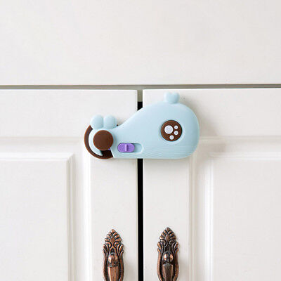 Cute Drawer Door Cabinet Child Anti-pinch Safety Lock Security Protective Buckle