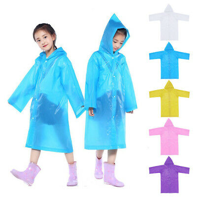 Novelty 1PC Portable Reusable Raincoats Children Rain Ponchos For 6-12 Years Old