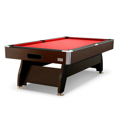 Factory Second 7ft Walnut/Burgundy MDF Pool/Snooker Table Sydney PICK UP ONLY