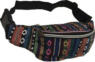 Rainbow Bum Bag Fanny Pack Travel Festival Money Belt Retro 80s Multicoloured