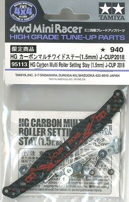 Tamiya 95113 1/32 Mini 4WD HG 1.5mm Carbon Multi Roller Setting Stay J-Cup 2018