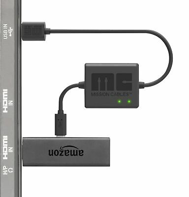 Mission Cables USB Power Cable for Amazon Fire TV Stick (Eliminate the need for