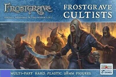5x Frostgrave Cultists Dnd D&D Dungeons & Dragons pathfinder Miniatures 28mm