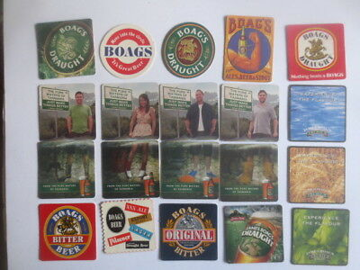20 different BOAG,S Brewery Issued Tasmanian BEER Coasters O