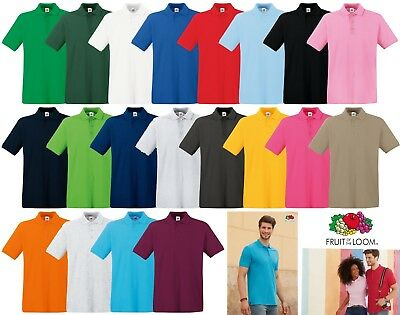 Polo Uomo Premium Fruit Of THe Loom Manica Corta Cotone Home Shop Italia FR63218