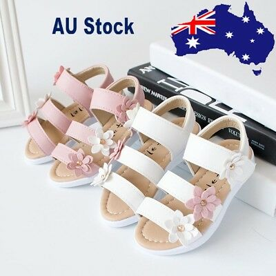 Summer Kids Children Sandals Fashion Beach Big Flower Girls Flat Pricness Shoes