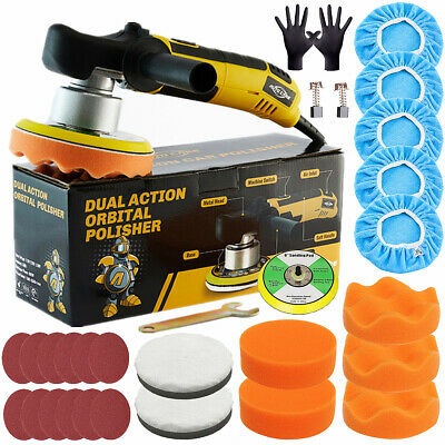 "UK Plug 6"" Electric Car Polisher Dual Action Eccentric Excentric Rotation Buffer"