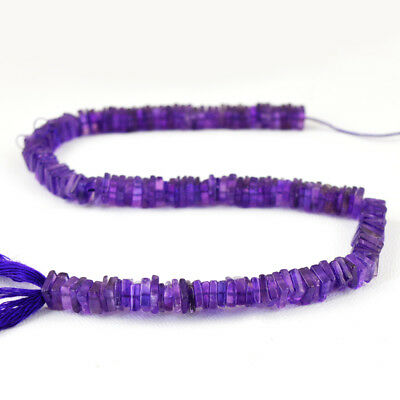 141.00 Cts / 12 Inches Natural Drilled Purple Amethyst Untreated Beads Strand