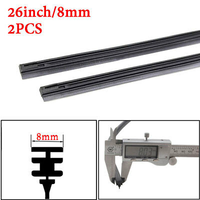 "2PCs 6mm/8mm New Car Auto Rubber Metal Wiper Blade Refill 14""/16""/22""/24""/26"""