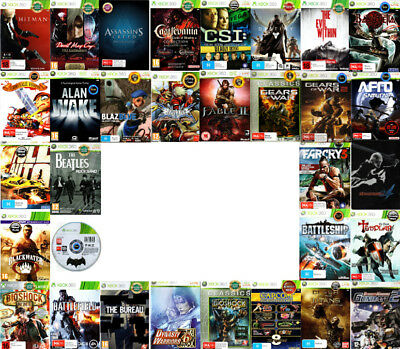 💙XBOX 360 Games Rated M & OVER ●ҩ GAME TITLES STARTING WITH A to K ҩ● 15/08/18
