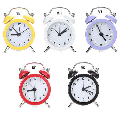 Mini Round Alarm Clock Table Bedside Clocks Decor Lovely Dial Number Clock 1PC