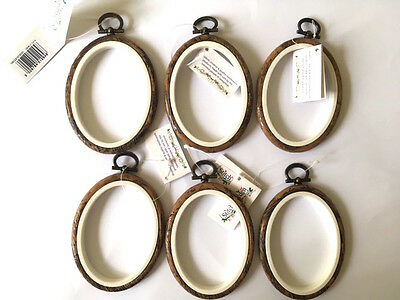 6 Oval wood effect Flexi Hoop 6 x 8 cm  2 x 3 inch for cross stitch embroidery