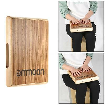 ammoon Compact Travel Cajon Flat Hand Drum Persussion Instrument  31.5 * P4B0