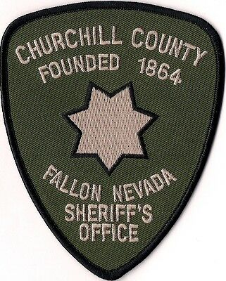 Churchill County Sheriffs Office Fallon Nevada Patch NEW