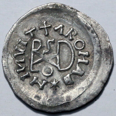 Byzantine Silver Coin-Barbaric Coinage, The Ostrogoths, ¼ siliqua 518-527 AD