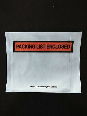 1000 Packing List Enclosed 4 1/2 x 5 1/2 Envelope Self Adhesive Box Slip 4.5x5.5