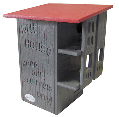Ultimate Squirrel House Nesting Box Gray Cardinal Red