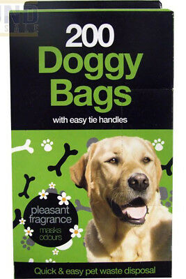 DOGGY BAGS - Scented Pet Pooper Scooper Bag Dog Cat Poo Waste Toilet Poop UK