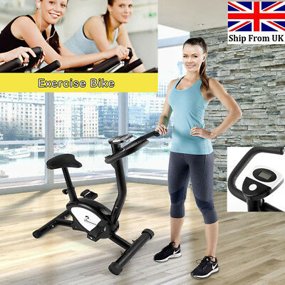 Aerobic Training Cycle LCD Exercise Bike Fitness Cardio Workout Home Gym Machine