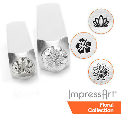 ImpressArt Garden and Flower Design Metal Stamping, Metal Stamps 3mm, 6mm, 9.5mm