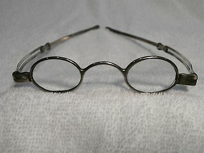 1822 Georgian Signed Solid Silver Rare English Spectacles In Superb Condition!