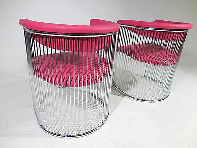 2 Vintage Chrome Chairs 70's Mid 20th Century Pop Modern Panton/Platner Style
