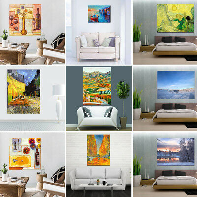 Landscape Canvas Modern Wall Poster Decor Art Oil Painting Picture Unframed Lot