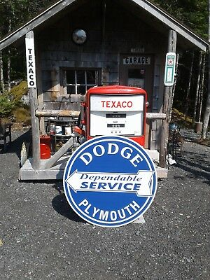 Large 37 Inch Dodge Plymouth Service Sign