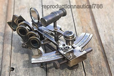 Solid Brass Ship Sextant Astrolabe Maritime Vintage Antique Marine Sextant Gift