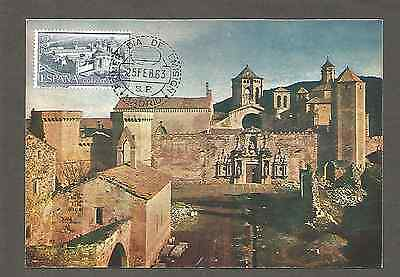 MONASTERIO DE POBLET 25 Feb 1963 FDC /Postcard. Madrid Spain,