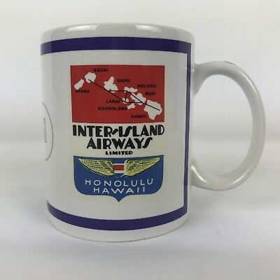 Hawaiian Airlines Mug Sikorsky S-43 Hilo Hattie Inter Island Airways Honolulu