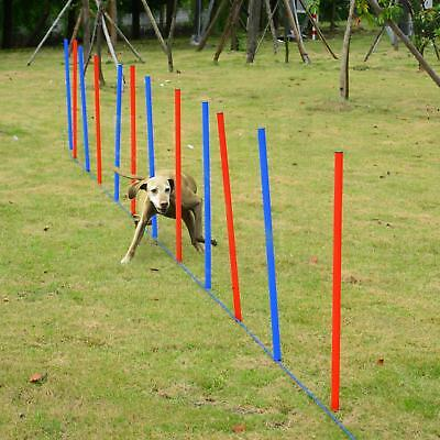 Pet Dog Agility Fun Training Set Run Jump Toy Tool With Stakes Exercise Play New