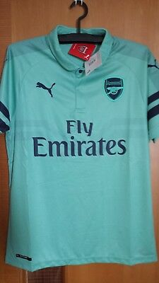Puma Arsenal 2018-19 Men 3RD Football Soccer Shirt Jersey 753217-02 Green 3e14dc30c