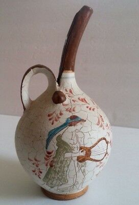 Olive Oil Pitcher Greek Art Mini Hand Painted Porcelain For Oil Clay Pottery
