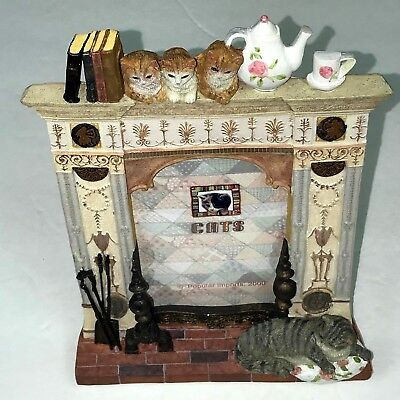 3D Cat Picture Frame Design Books Teapot Cups Fireplace 8.3/25 H x 6.3/25 W