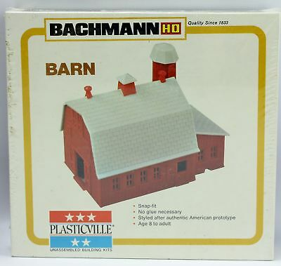 Plasticville Radio Station Red Roof O-S Scale