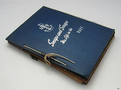 WW2 Era MY LIFE IN THE NAVY Personal Scrapbook : Pictures, Clippings ++