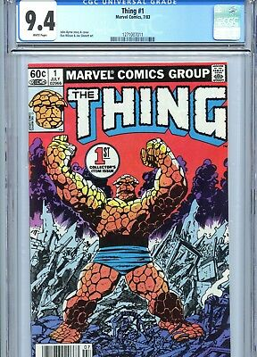 Thing #1 CGC 9.4 White Pages Byrne Cover Fantastic Four Marvel Comics 1983