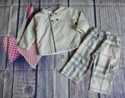 Burberry Baby Boy Designer Clothes Lightly Padded Jacket Checked Pants 18 Months