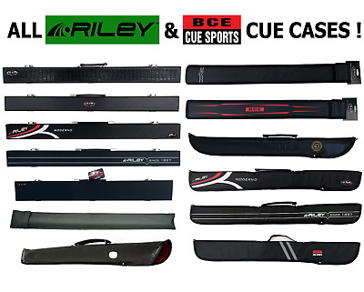 Pool Snooker Cue Case Hard Case / Soft Case BCE Riley MASSIVE CHOICE