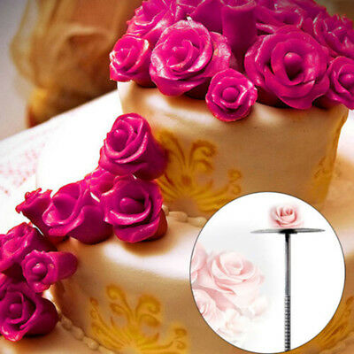 Decorating Nail Included Handle Cupcake Cream Sugarcraft Needle Topper Silver BF