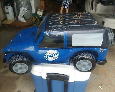 Miller Lite Inflatable Jeep