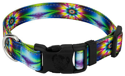 Country Brook Petz® Deluxe Tie Dye Flowers Reflective Dog Collar