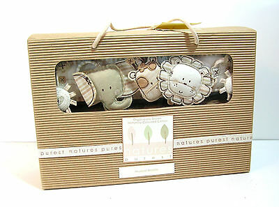 Musical Baby Mobile Nature's Purest Sleepy Safari Organic Baby Gift NIB