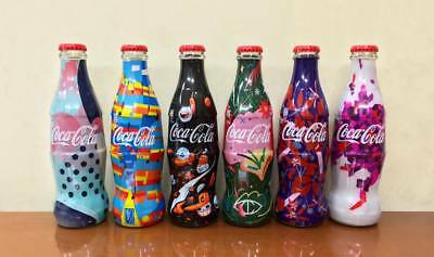 COCA COLA BOTTLES - set 6 BOTTIGLIE SERBIA FASHION DESIGNER - FULL 250ml