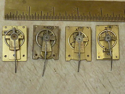 4 ANTIQUE CARRIAGE- FRENCH CLOCK PLATFORMS - SPARES or REPAIR (RR)