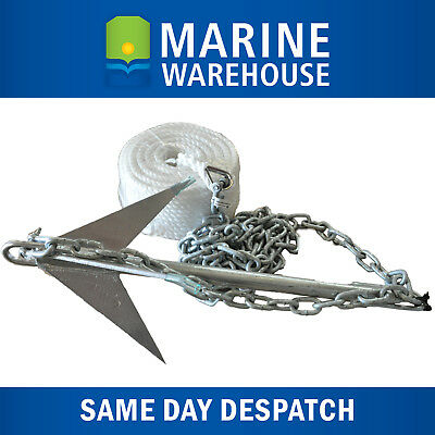 REEF/RUBBLE Mooloolaba Pick 4LB, Galvanised Chain 2M, & Anchor Hank 50M KIT 6430