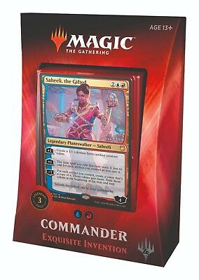 MTG Magic - Commander 2018 - Exquisite Invention - 100 Card Deck
